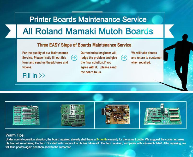 Roland_Mutoh_Mimaki PCB Repair